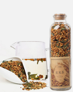 糙米茶花草茶蒸青绿茶